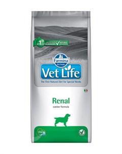 Vet Life Canin Renal для взрослых собак при почечной недостаточности 12 кг Farmina