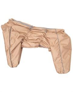 Комбинезон зимний для собак средних и крупных пород бежевый для мальчиков 60 1 Osso fashion