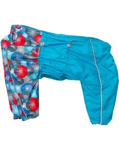 Комбинезон зимний для собак средних и крупных пород голубой красный для девочек 45 1 Osso fashion