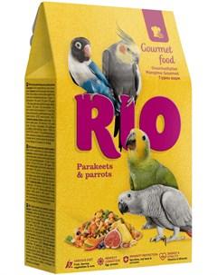 Gourmet корм для крупных и средних попугаев 250 гр Rio