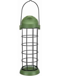 Кормушка уличная для птиц подвесная зеленая 8 х 22 см 1 шт Trixie