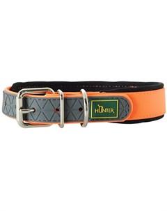 Ошейник для собак Convenience Comfort 40 биотан мягкая горловина оранжевый неон 20 мм 27 35 см 1 шт Hunter