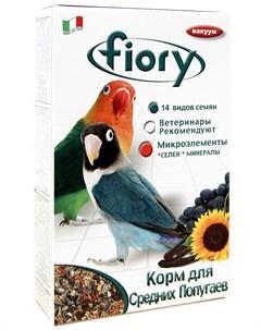 Parrocchetti African Фиори корм для средних попугаев 800 гр Fiory