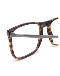 Очки в квадратной оправе черепаховой расцветки Burberry eyewear