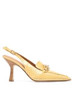 Туфли Jessa с тиснением под крокодила Tory burch