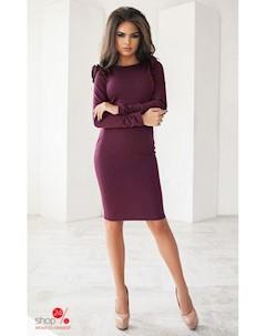 Платье цвет бордовый Oh my look