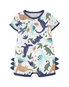 Полукомбинезон с динозаврами для мальчика 1K522710 Carter`s