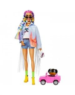 Кукла Экстра с радужными косичками Barbie
