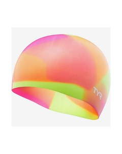 Шапочка для плавания Tie Dye Junior Swim Cap силикон LCSJRTD 173 оранжевый Tyr