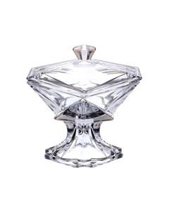 Конфетница с крышкой 23 см Crystalite bohemia
