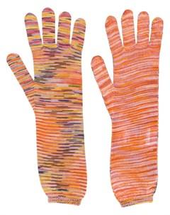 Перчатки вязки интарсия Missoni