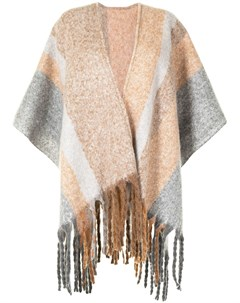 Пончо Ecuador с бахромой Unreal fur