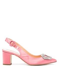 Атласные туфли Marina с кристаллами Rupert sanderson