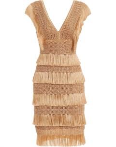 Платье миди без рукавов с бахромой Patbo