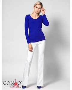 Пуловер цвет ярко синий Conso