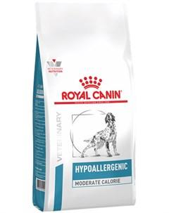 Hypoallergenic Moderate Calorie для взрослых собак при пищевой аллергии с умеренным содержанием кало Royal canin