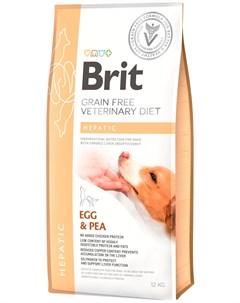 Veterinary Diet Dog Grain Free Hepatic для взрослых собак при заболеваниях печени 12 12 кг Brit*