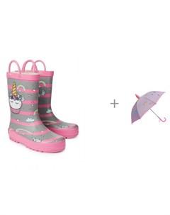 Резиновые сапоги для девочки и Зонт Пает Oldos