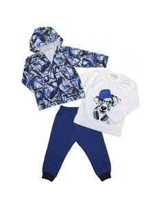 Комплект для мальчика жакет лонгслив брюки 6403 Baby rose