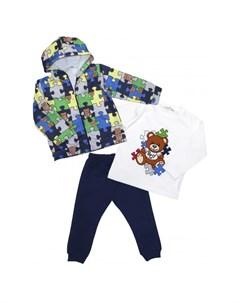 Комплект для мальчика жакет лонгслив брюки 6405 Baby rose