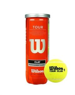 Мяч теннисный Tour Clay WRT108900 4 шт желтый Wilson