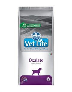Vet Life Canin Oxalate для взрослых собак при мочекаменной болезни ураты оксалаты 12 кг Farmina