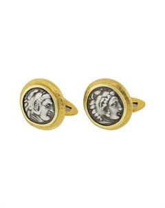Запонки Alexander The Great из желтого золота Jorge adeler