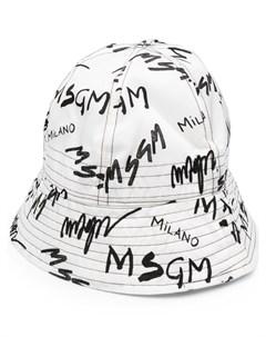 Панама с логотипом Msgm