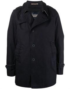 Однобортное пальто со смещенной застежкой Herno