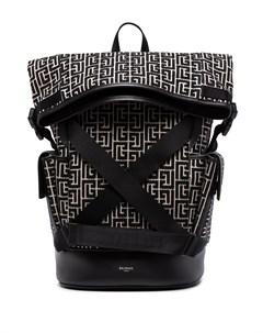Жаккардовый рюкзак с монограммой Balmain