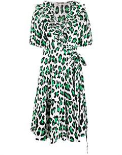Платье Hirata с леопардовым принтом Dvf diane von furstenberg
