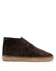 Ботинки на плетеной подошве Saint laurent
