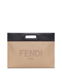 Двухцветная сумка тоут Fendi