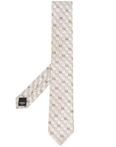Галстук с вышивкой Fendi