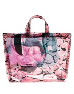 Прозрачная сумка тоут с принтом Comme des garçons shirt
