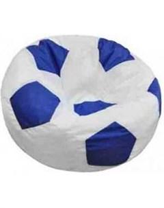 Кресло мешок Мяч Бмэ6 бело синий Пазитифчик