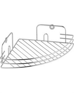 Полка угловая решетчатая одинарная 19 19 6 см Fora