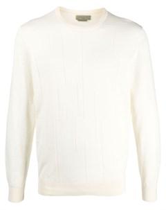 Пуловер с длинными рукавами и вставками Corneliani