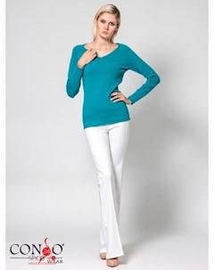 Пуловер цвет бирюзовый Conso
