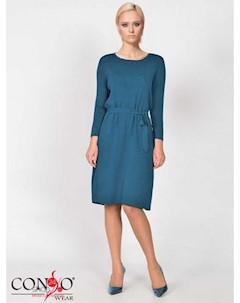 Платье цвет изумрудный Conso