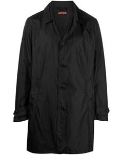 Однобортное пальто длины миди Aspesi