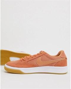 Оранжевые кроссовки Adversary Nike sb