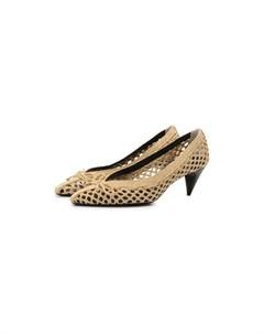 Текстильные туфли Kim Saint laurent