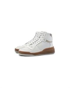 Кожаные кроссовки SL24 Saint laurent