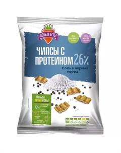 Чипсы с протеином соль черный перец 90 г Польза есть Racionika