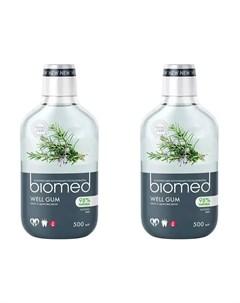 Набор Ополаскиватель для полости рта Well Gum 500 мл 2 штуки Biomed Splat