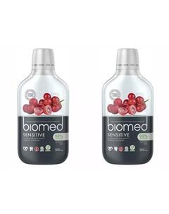 Набор Ополаскиватель для полости рта Sensitive 500 мл 2 штуки Biomed Splat
