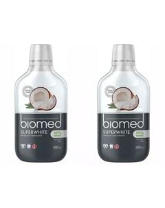 Набор Ополаскиватель для полости рта Super White 500 мл 2 штуки Biomed Splat