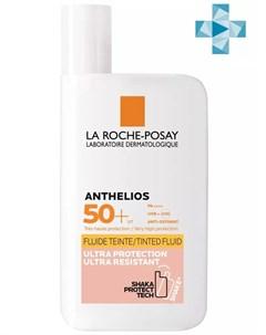 Тонирующий флюид для лица и кожи вокруг глаз SPF50 50 мл Anthelios La roche-posay
