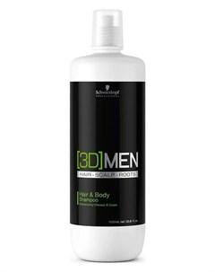 Шампунь для волос и тела 1000 мл 3D MEN Schwarzkopf professional